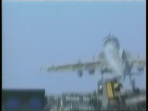 military jet takes off. - operation enduring freedom stock videos & royalty-free footage