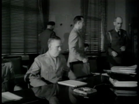 'united nations' war council meeting vs military leaders sitting at table ms general george c marshall jr gathering paperwork other military leaders... - axis powers stock videos & royalty-free footage