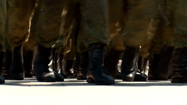 military march - boot stock videos & royalty-free footage