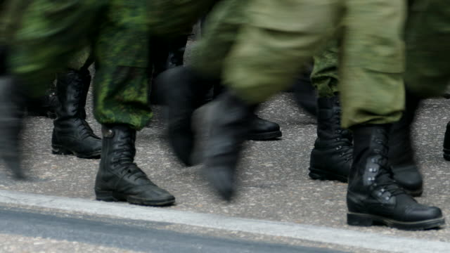 military marching feet