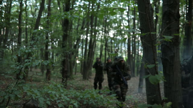 Military mission in the forest