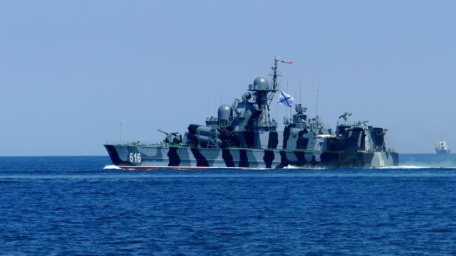 military missles ship - battleship stock videos & royalty-free footage