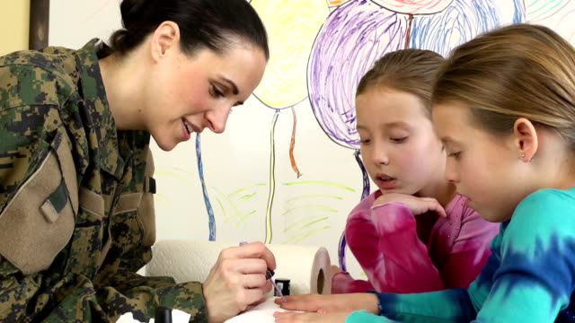Military Mom Paints Daughter's Nails