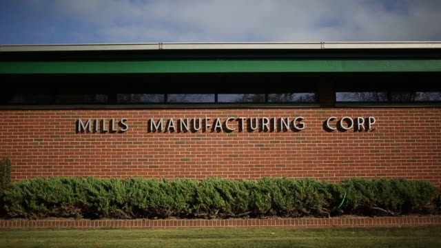 military parachutes are manufactured at mills manufacturing corp in asheville north carolina us on wednesday oct 5 2016 shots shot of worker workin... - hands behind back stock videos and b-roll footage