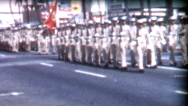 military parade and nurses 1950's - war veteran stock videos & royalty-free footage