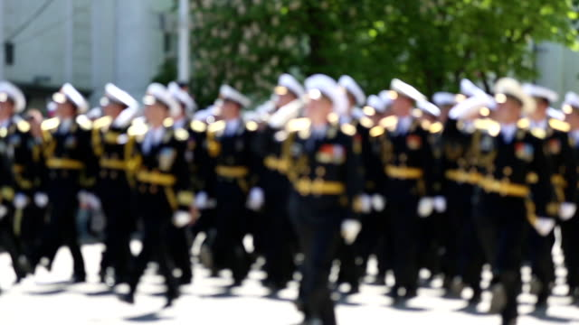 military parade of officers - military parade stock videos & royalty-free footage