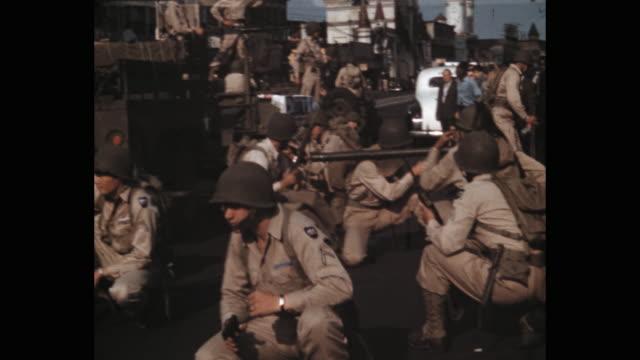1941 military parade on 5th avenue, new york city, ny, usa - military training stock videos & royalty-free footage