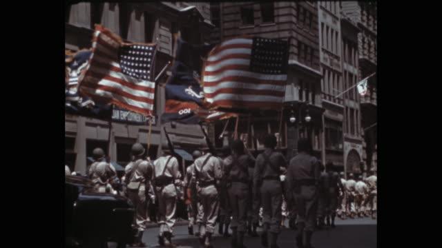 1941 military parade on 5th avenue, new york city, ny, usa - military parade stock videos & royalty-free footage