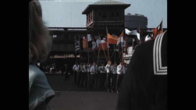 1941 military parade on 5th avenue, new york city, ny, usa - 式典点の映像素材/bロール
