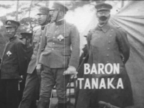 military parade/ tanaka giichi - 1927 stock videos & royalty-free footage