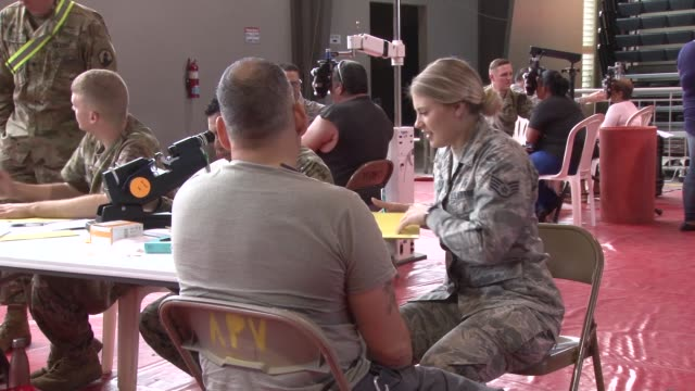 us military personnel provide free medical care during two week innovative readiness training exercise in ponce puerto rico april 29 2019 - medical resident stock videos and b-roll footage