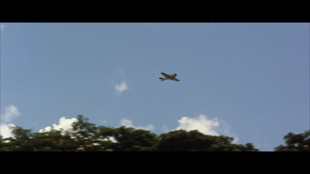 WS POV Military reconnaissance airplane in flight