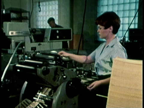 1968 montage military recruitment video showing women in a variety of careers / united states  - audio electronics stock videos & royalty-free footage