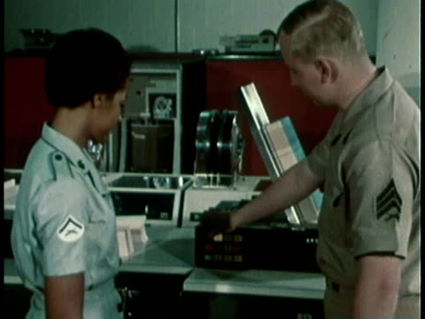 1968 montage military recruitment video showing women in a variety of careers / united states  - military recruit stock videos & royalty-free footage