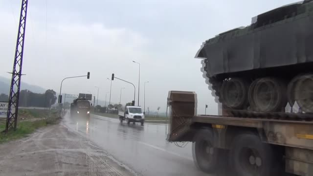 Military reinforcements arrived at the Syrian border in Turkey's southern Hatay province on Wednesday including tanks according to reports from the...