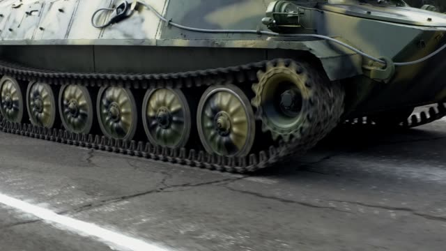 military tank driving on the road - artillery stock videos & royalty-free footage