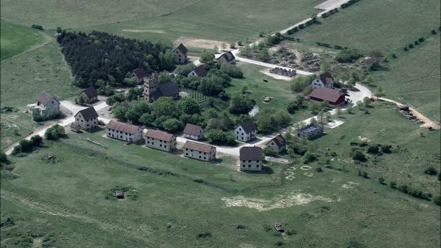 Militär-Village-Luftaufnahme-England, Norfolk, Breckland Vereinigtes Königreich