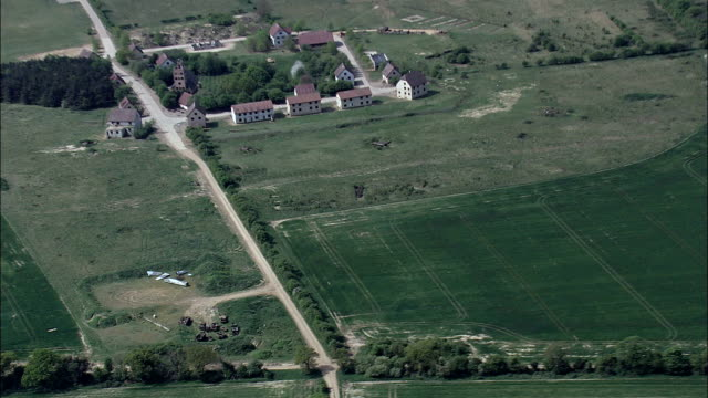 Military Training Village  - Aerial View - England, Norfolk, Breckland District, United Kingdom