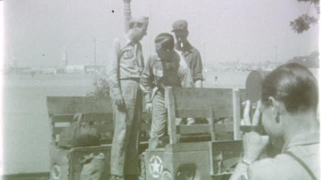 vídeos y material grabado en eventos de stock de military transport at ferry port on may 02 1945 in venice italy - embarcación de pasajeros