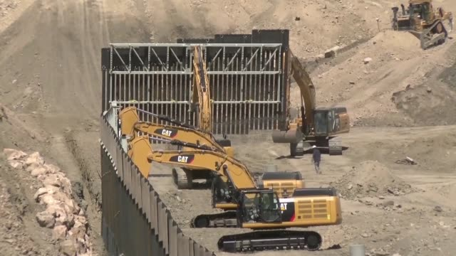 a us military veteran has launched construction on the first section of private border wall between the united states and mexico using money... - military private stock videos & royalty-free footage