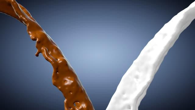 milk and chocolate - chocolate milk stock videos & royalty-free footage
