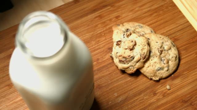 milk and cookies - chocolate milk stock videos & royalty-free footage