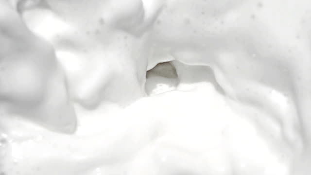 Milk at slow motion