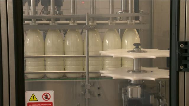 milk production line - dairy product stock videos & royalty-free footage