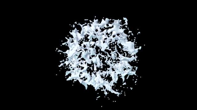 milk splash explosion on black with matte - matte stock videos & royalty-free footage
