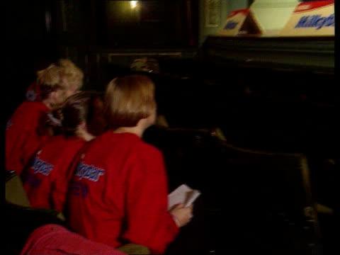 Milky bar advert CF TAPE NO LONGER AVAILABLE ENGLAND Notts Nottingham LAMS Simon Desborough wearing 'Milky Bar Kid' outfit on horse shouts SOT The...