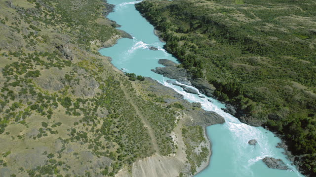 Milky Blue Waters Of Patagonian River