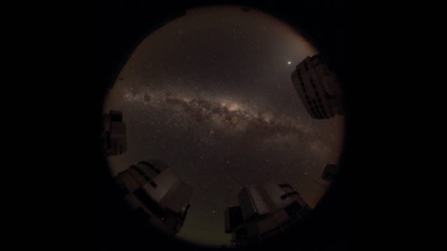 milky way above paranal observatory - cerro paranal stock videos and b-roll footage