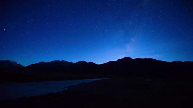 Milky Way Above Snow Peak Mountain, Mount Cook National Park, New Zealand