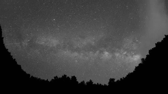milky way above the valley 4k time lapse video - science and technology stock videos & royalty-free footage