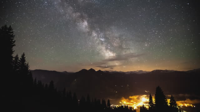 T/L Milky way and stars at Brixen im Thale, Austria