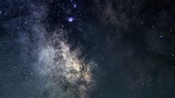 Milky Way Galaxy. Milky Way Time lapse.