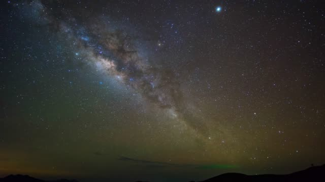 Milky Way Galaxy over Mountains, Perfect Condition, Time-lapse Video