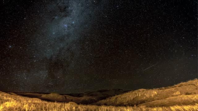 天の川銀河時間の経過 - 流星点の映像素材/bロール