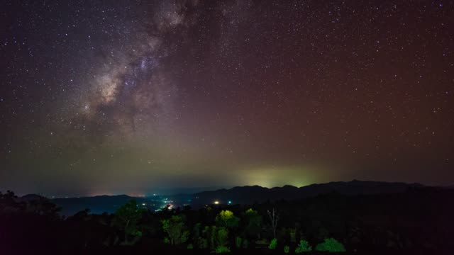 milky way galaxy, time-lapse video - named wilderness area stock videos & royalty-free footage