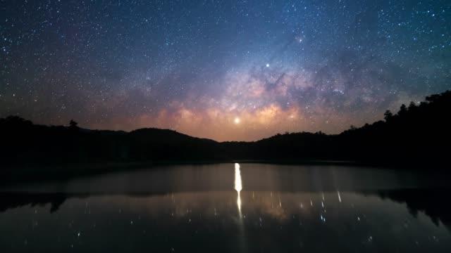 天の川銀河 - 北半球点の映像素材/bロール