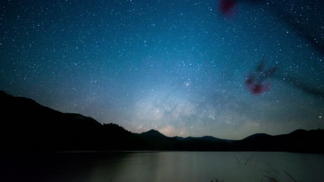 milky way galaxy - man made object stock videos and b-roll footage