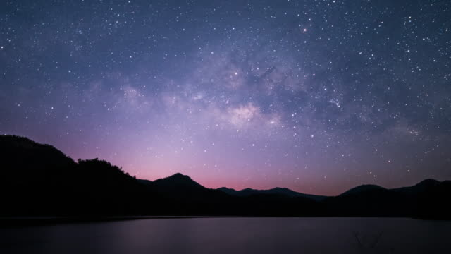 milky way galaxy - dusk stock videos & royalty-free footage