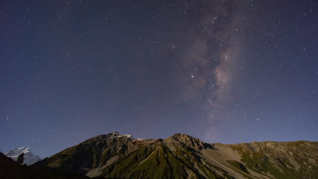 milky way in new zealand, time lapse video - southern hemisphere stock videos & royalty-free footage