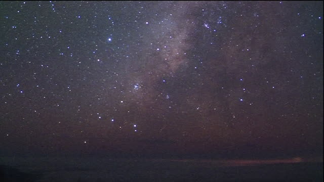 Milky Way moving across night sky
