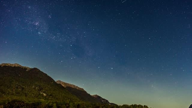 天の川夜空タイムラプス - 北極星点の映像素材/bロール