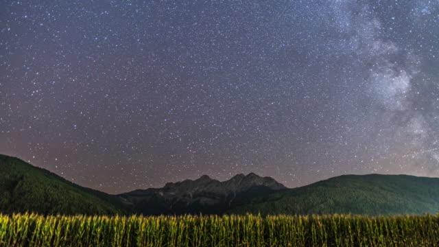 Milky way on the beautiful sky on the mountain , new zealand