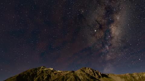 vintergatan över aoraki mount cook, time lapse video - astronomi bildbanksvideor och videomaterial från bakom kulisserna