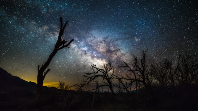 milky way over death valley - time lapse - death valley national park stock videos & royalty-free footage