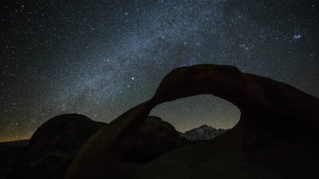milky way over mobius arch - rock formation stock videos & royalty-free footage