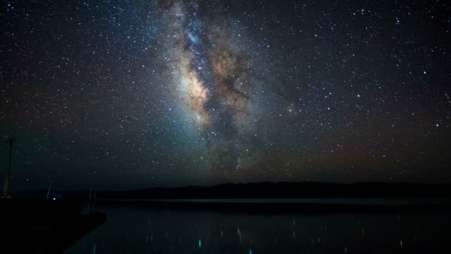 Milky way reflection in Chaka Salt Lake, Qinghai Province, China